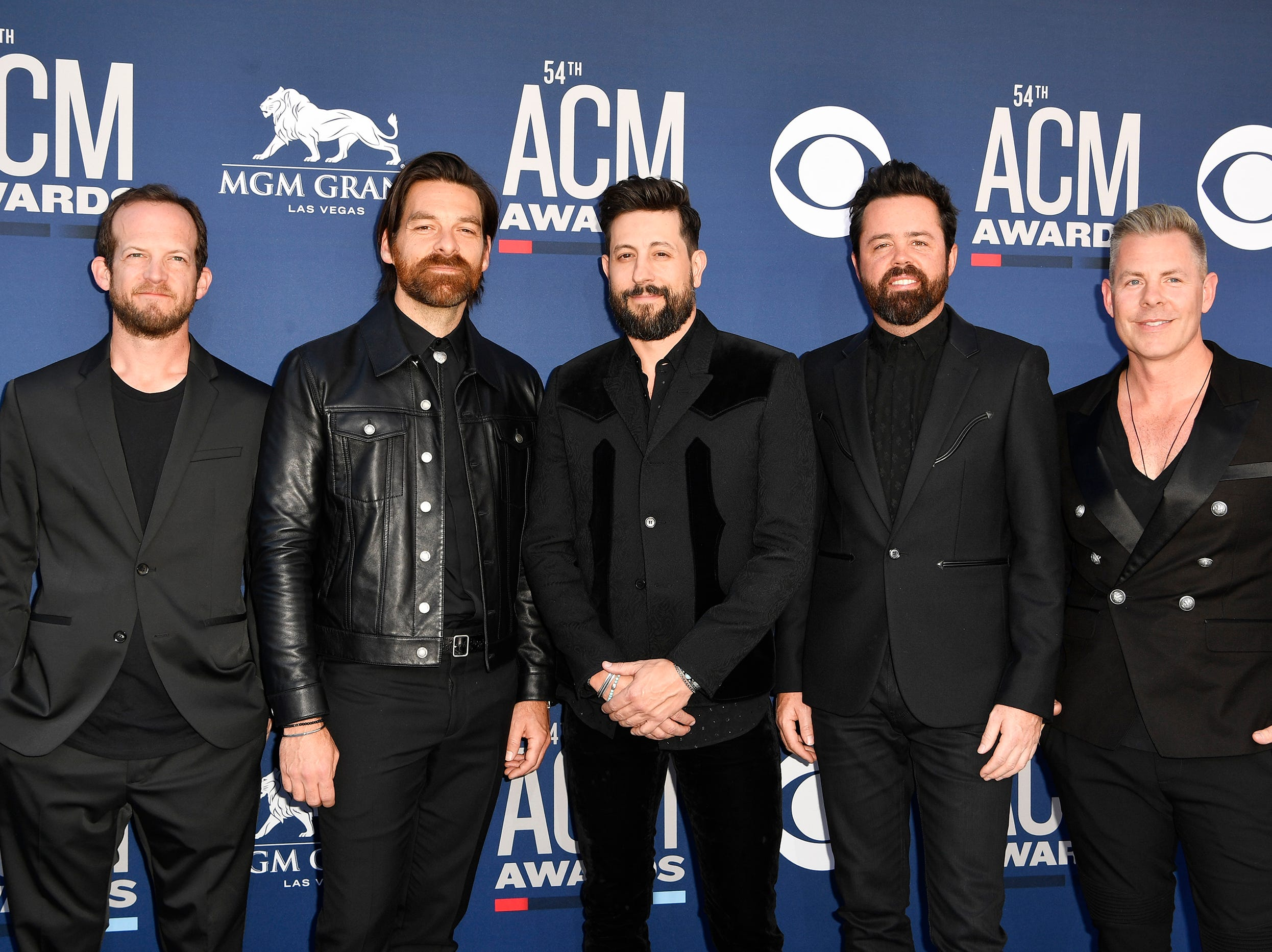 Old Dominion walks the red carpet at the 54TH Academy of Country Music Awards Sunday, April 7, 2019, in Las Vegas, Nev.