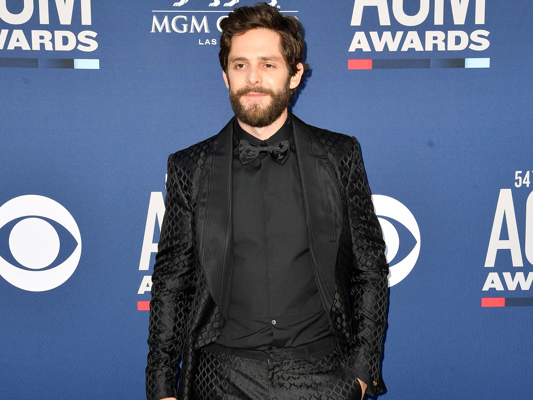 Thomas Rhett walks the red carpet at the 54TH Academy of Country Music Awards Sunday, April 7, 2019, in Las Vegas, Nev.