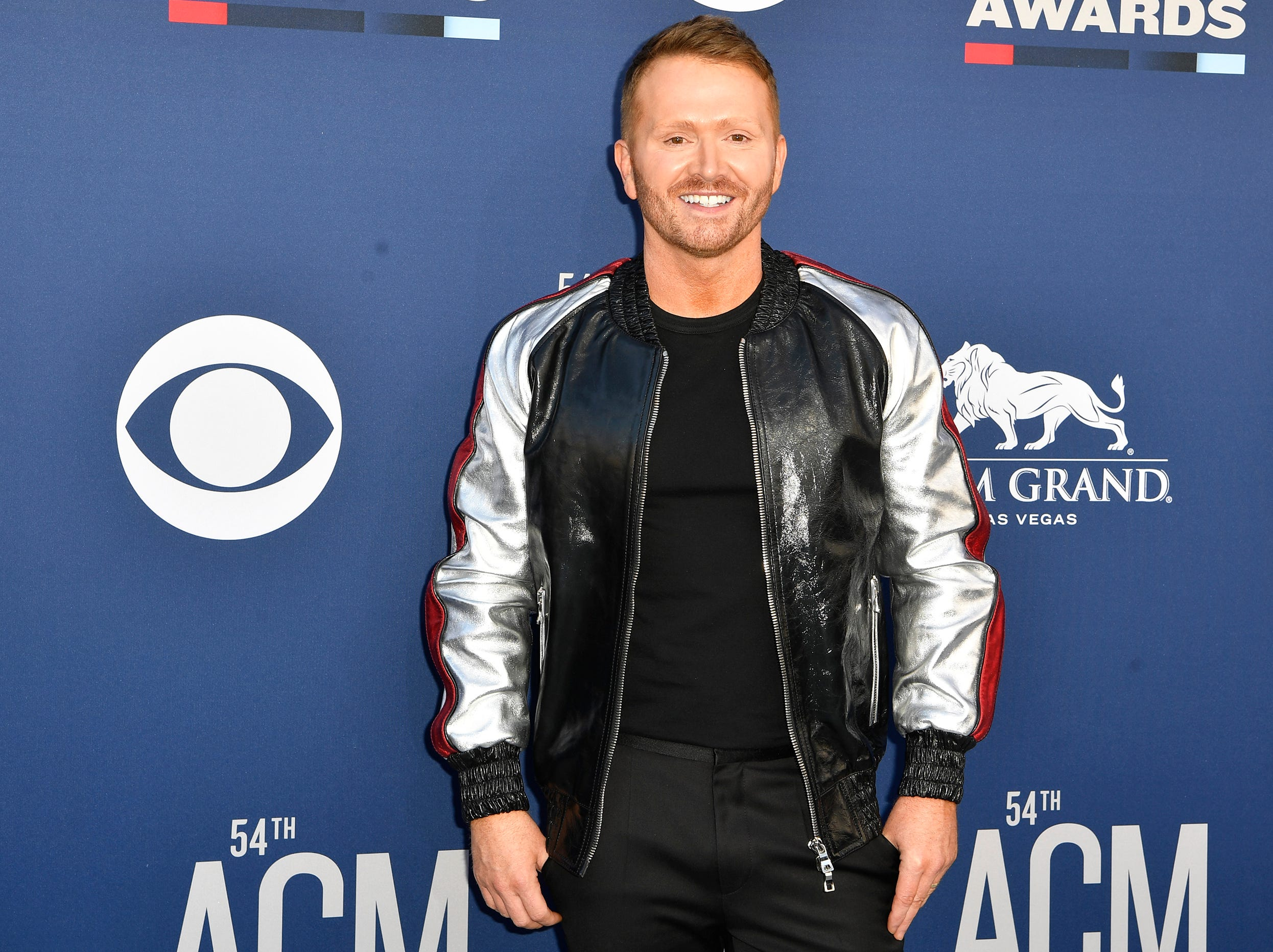 Shane McAnally walks the red carpet at the 54TH Academy of Country Music Awards Sunday, April 7, 2019, in Las Vegas, Nev.