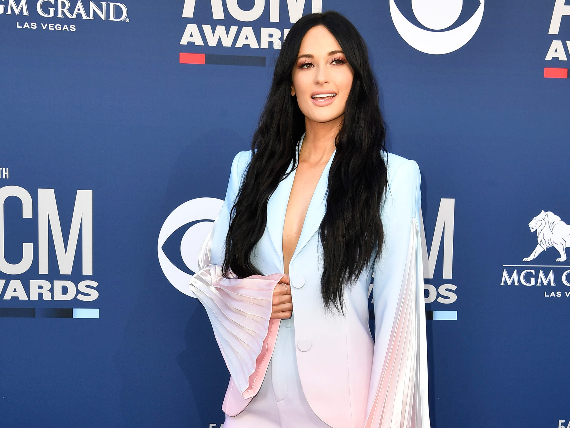 Kacey Musgraves walks the red carpet at the 54TH Academy of Country Music Awards Sunday, April 7, 2019, in Las Vegas, Nev.