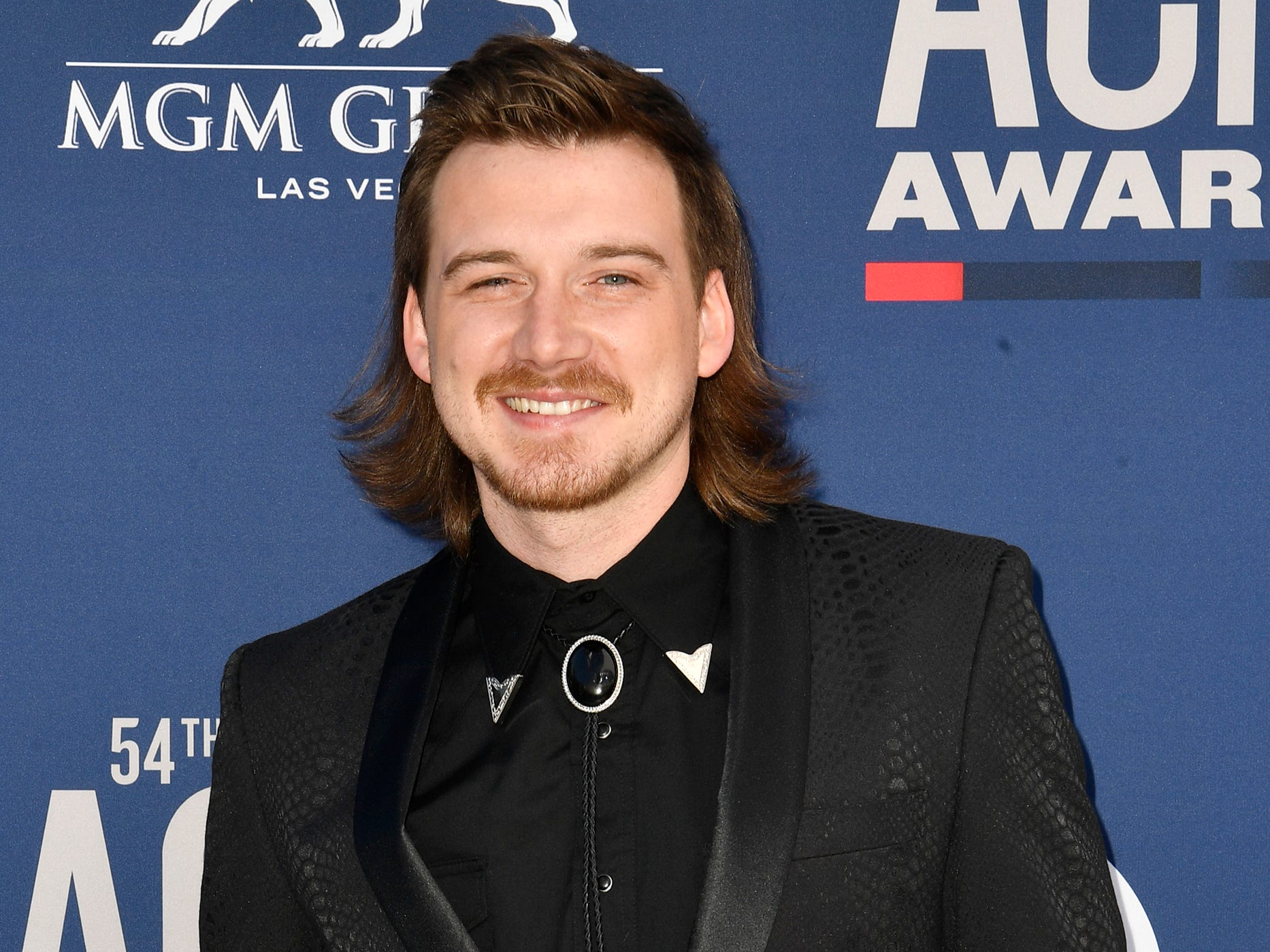 Morgan Wallen walks the red carpet at the 54TH Academy of Country Music Awards Sunday, April 7, 2019, in Las Vegas, Nev.
