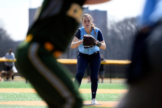 IHA pitcher Ryleigh White had six strikeouts and also drove in two runs in IHA's 8-5 win over Morris Knolls in the NFCA Leadoff Classic Sunday.