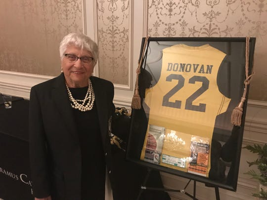 Dr. Rose Battaglia and the late Anne Donovan were recognized at the Paramus Catholic Legacy Gala on Saturday, April 6, 2019, with the announcement that the school would name its gym and basketball court, respectively, in their honor.