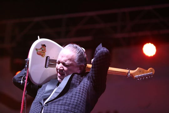 04/06/19 Taya Gray, Special to The Desert Sun Jimmie Vaughan performs Saturday during the Wedbush Garden Jam at the Indian Wells Tennis Garden.
