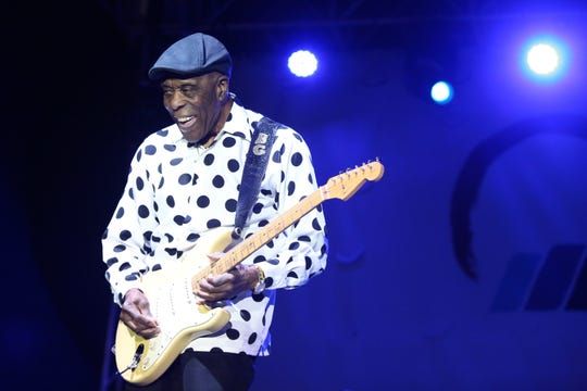 Buddy Guy headlines the Wedbush Garden Jam at the Indian Wells Tennis Garden in Indian Wells.