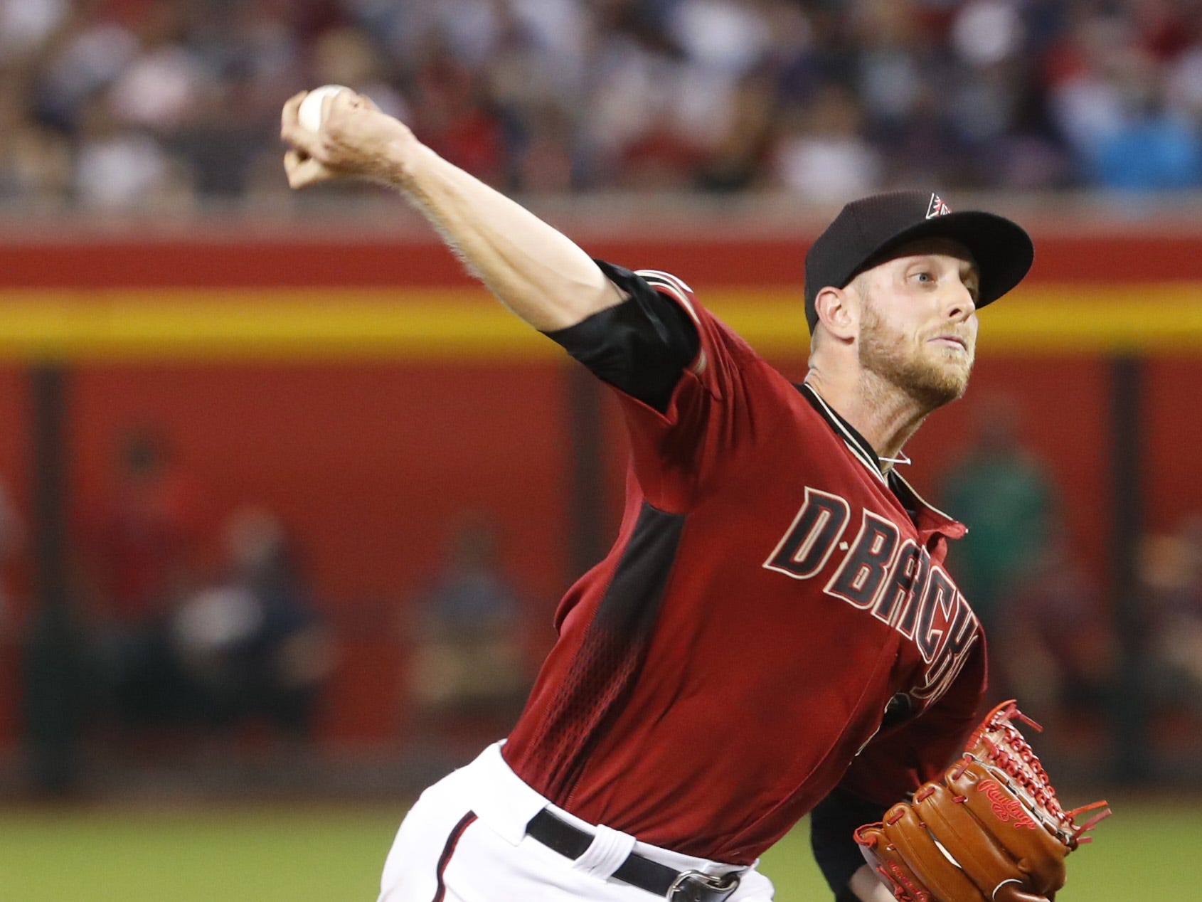 Diamondbacks' Merrill Kelly (29) pitches against the Red Sox during the seventh inning at Chase Field in Phoenix, Ariz. on April 7, 2019.