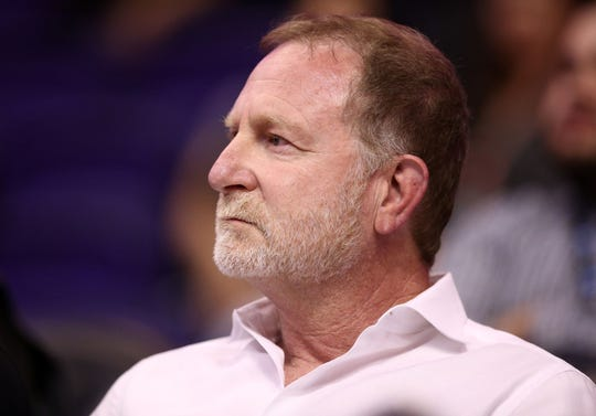 Phoenix Suns owner Robert Sarver on Mar. 1, 2019, at Talking Stick Resort Arena in Phoenix, Ariz.