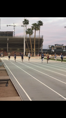 Competitors race in the 400-meter dash at the ASU Sun Angel Classic in Tempe on Saturday, April 6, 2019.
