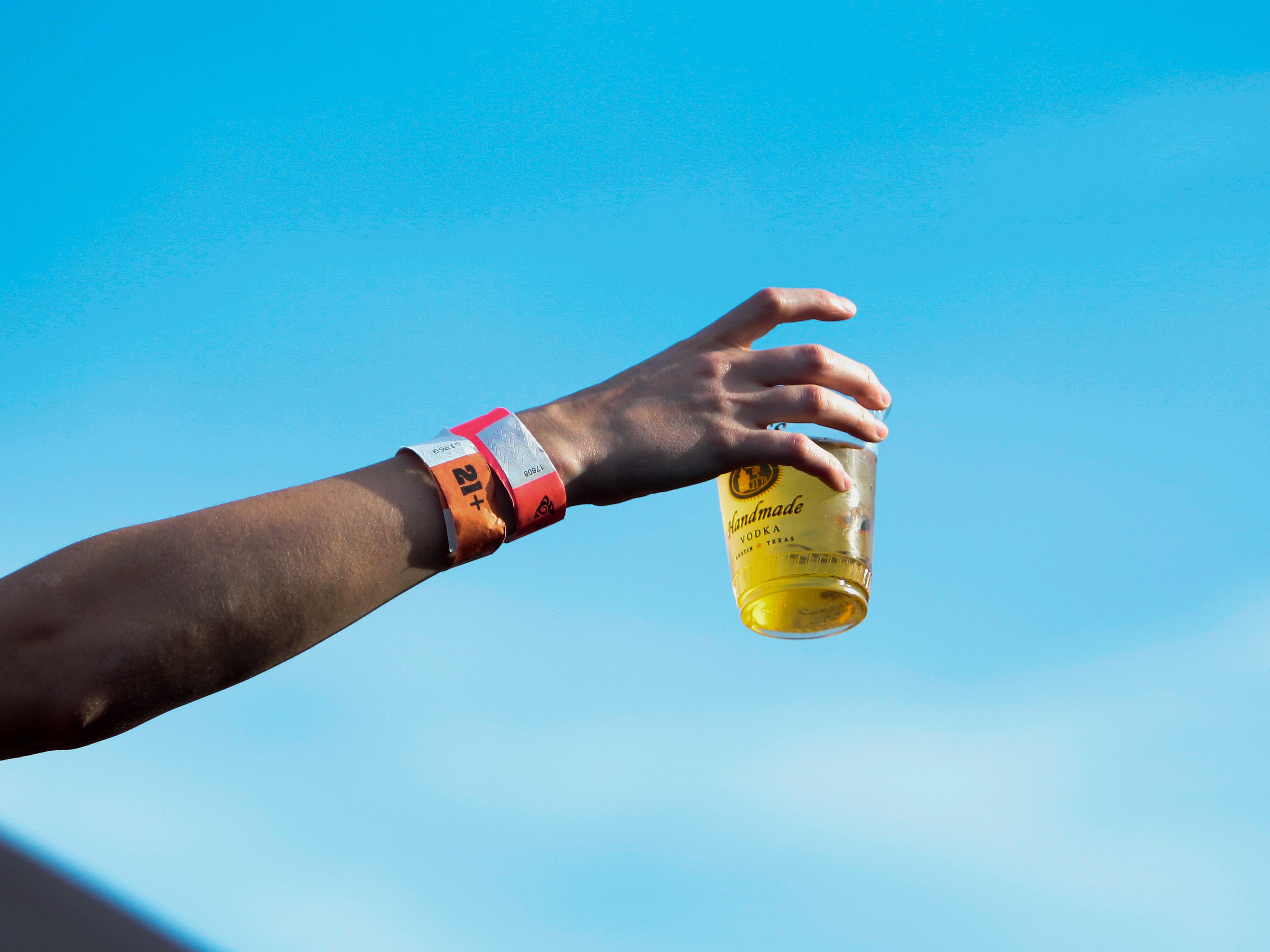 Festival attendees waited in long lines for drinks during Phoenix Pride at Steele Indian School Park on Saturday, April 6, 2019.
