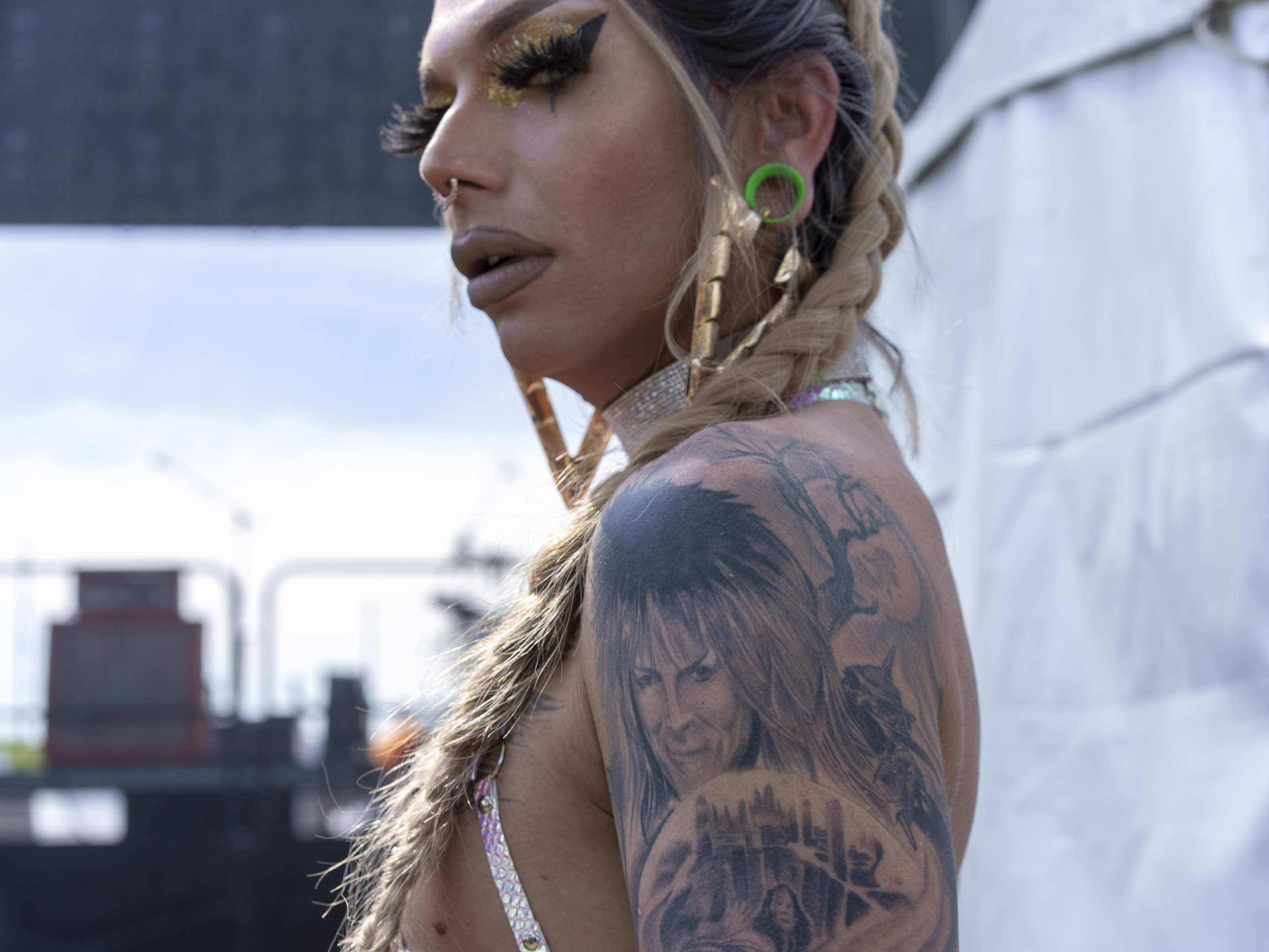 Portrait of Doja Stevens (stage name) Shane Wilson at Phoenix Pride at Steele Indian School Park on Saturday, April 6, 2019.