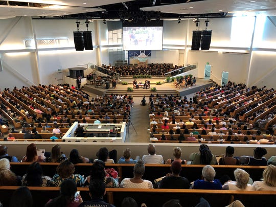 """Ex-U.S. Attorney General Eric H. Holder Jr. spoke about """"Delivering Democracy"""" at a lecture Saturday hosted byArizona State University's Center for the Study of Race and Democracy at Pilgrim Rest Baptist Church in Phoenix."""