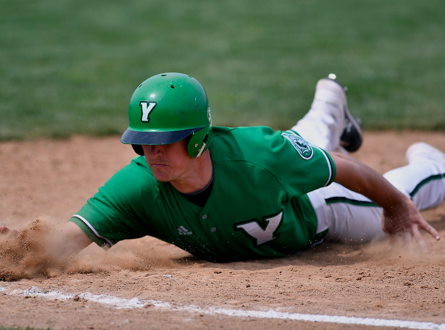 The York College Spartans host St. Mary's, Sunday, April 7, 2019.John A. Pavoncello photo