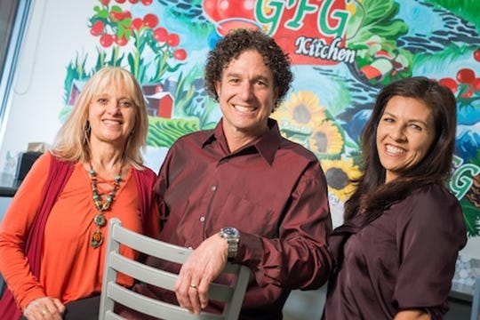 Gino and Juli Scala, left, founders of Great Full Gardens, and their business partner, Cyndi Wallis.