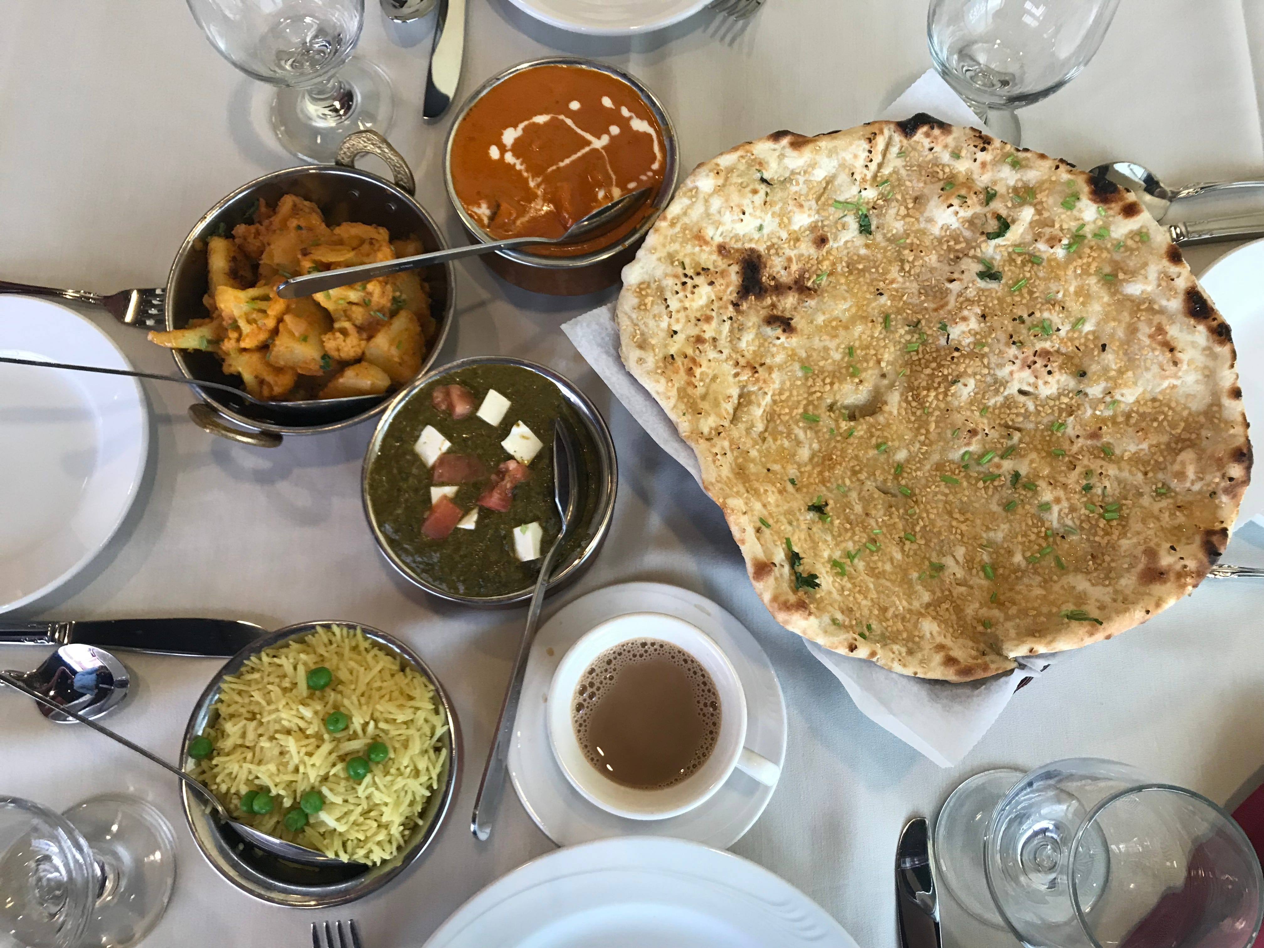 An Indian feast at Royal of India in Henrietta