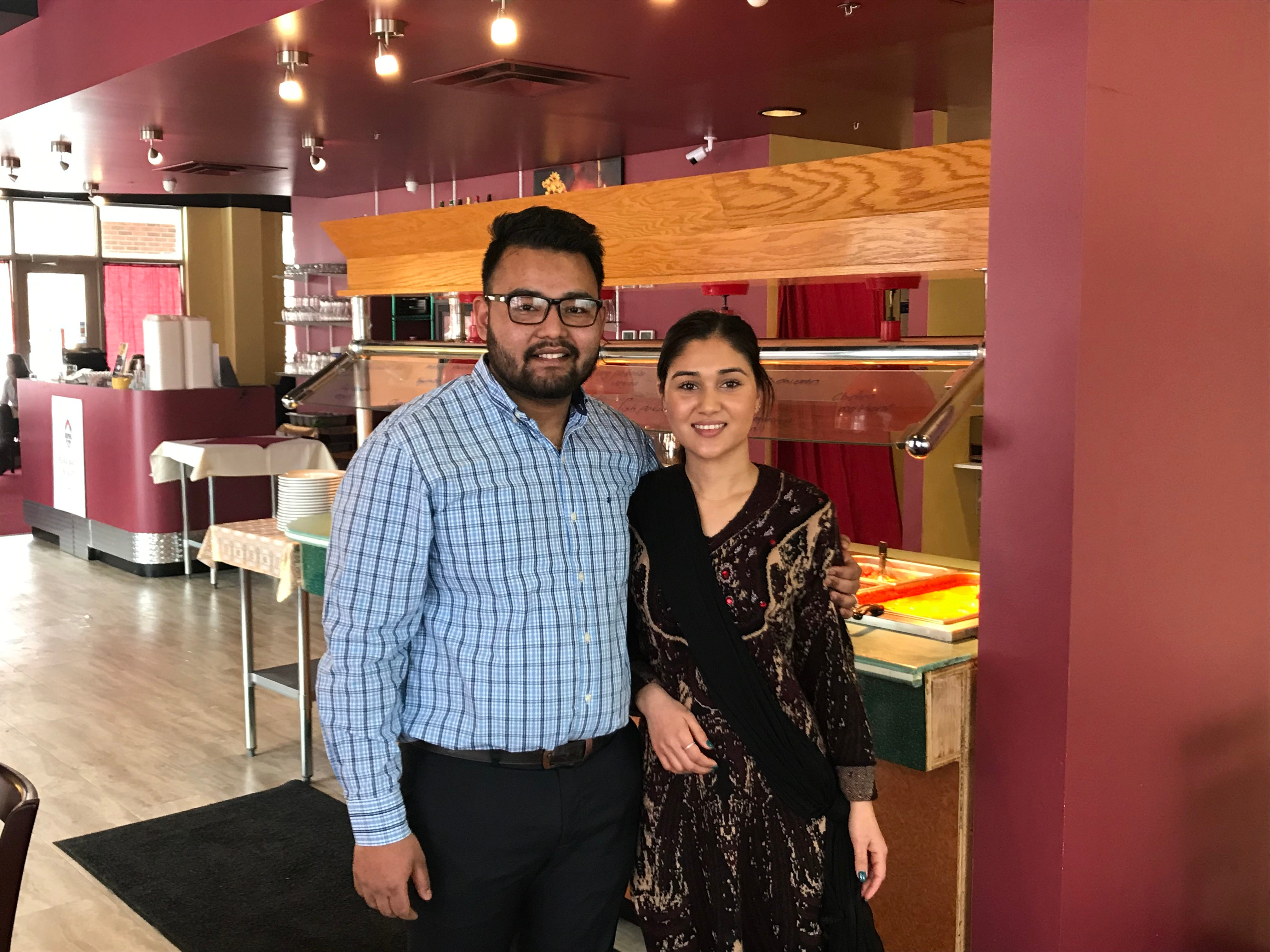 Nobin and Anisha Chuhan are the 22-year-old owners of Royal of India.