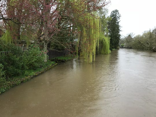 Mill Creek at 23rd Street SE and State Street in Salem on April 7, 2019.