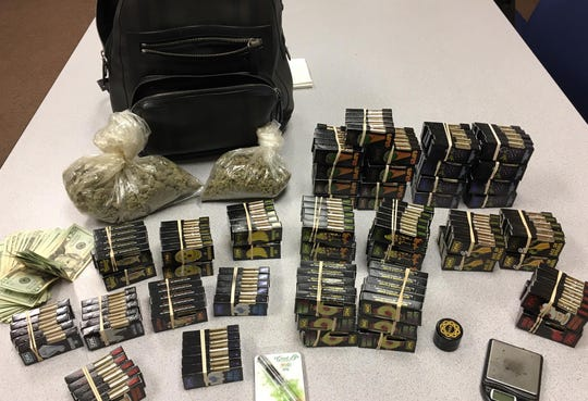 Raymond Diaz Padilla was stopped for vehicle code violations on Highway 101 near Gould Road in Salinas, but deputies found 10 ounces of marijuana, over 200 CBD and THC oil cartridges, and more than $1,100 in cash on him, according to the Monterey County Sheriff's Office.