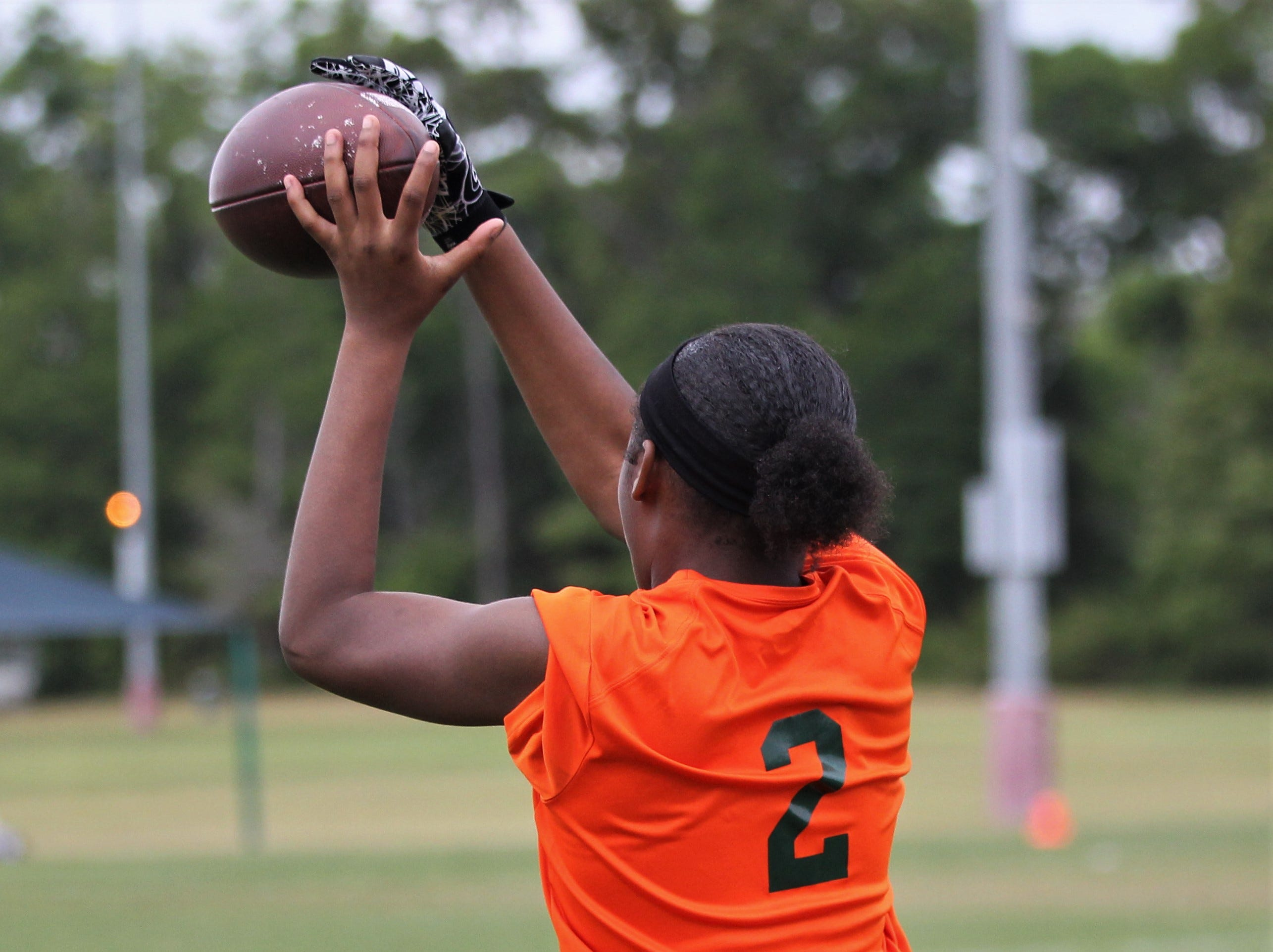 FAMU DRS plays in the 2019 Capital City Classic flag football tournament at the FSU Rec SportsPlex on April 6, 2019.