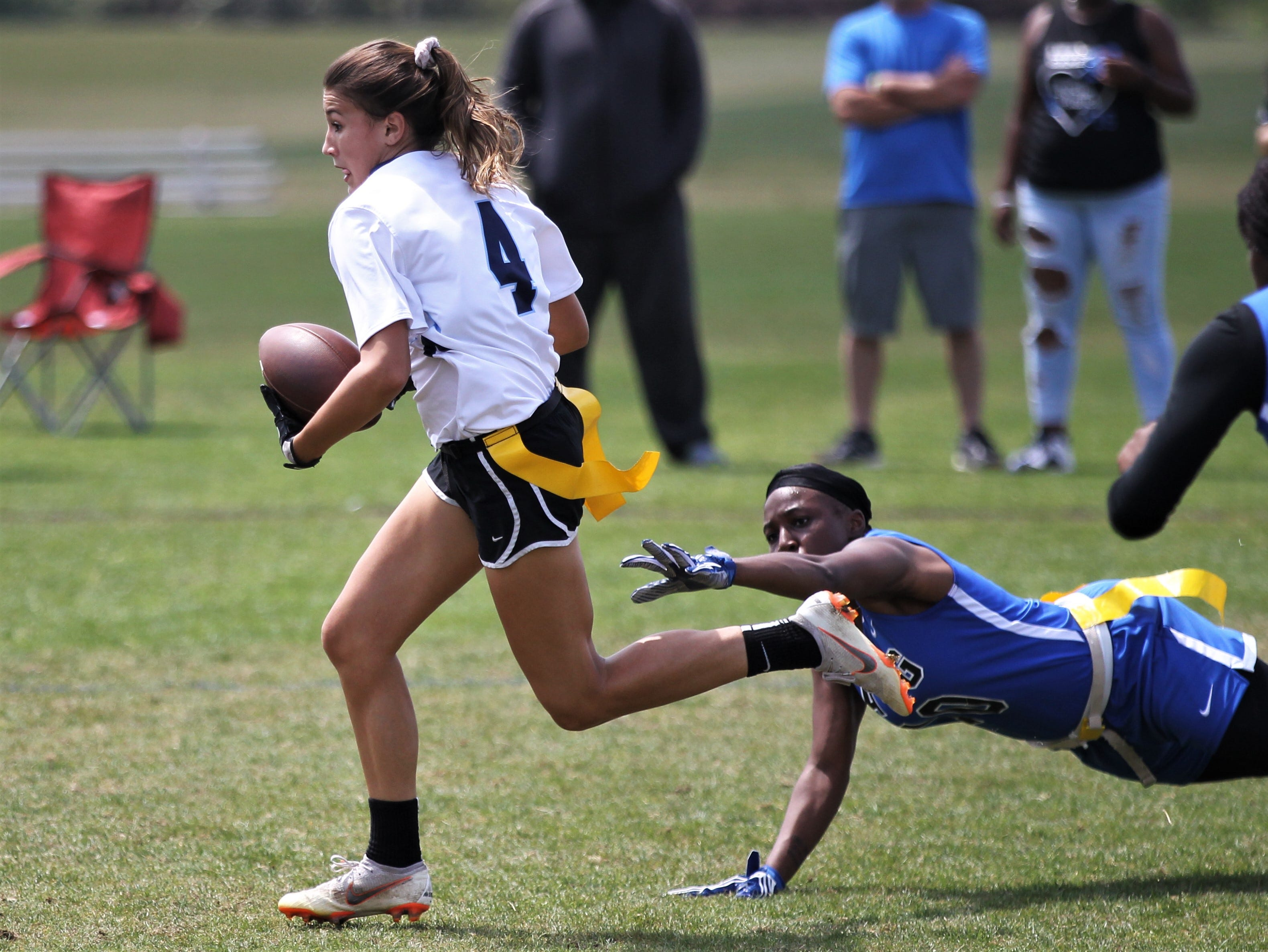 Newsome plays Godby in the 2019 Capital City Classic flag football tournament at the FSU Rec SportsPlex on April 6, 2019.