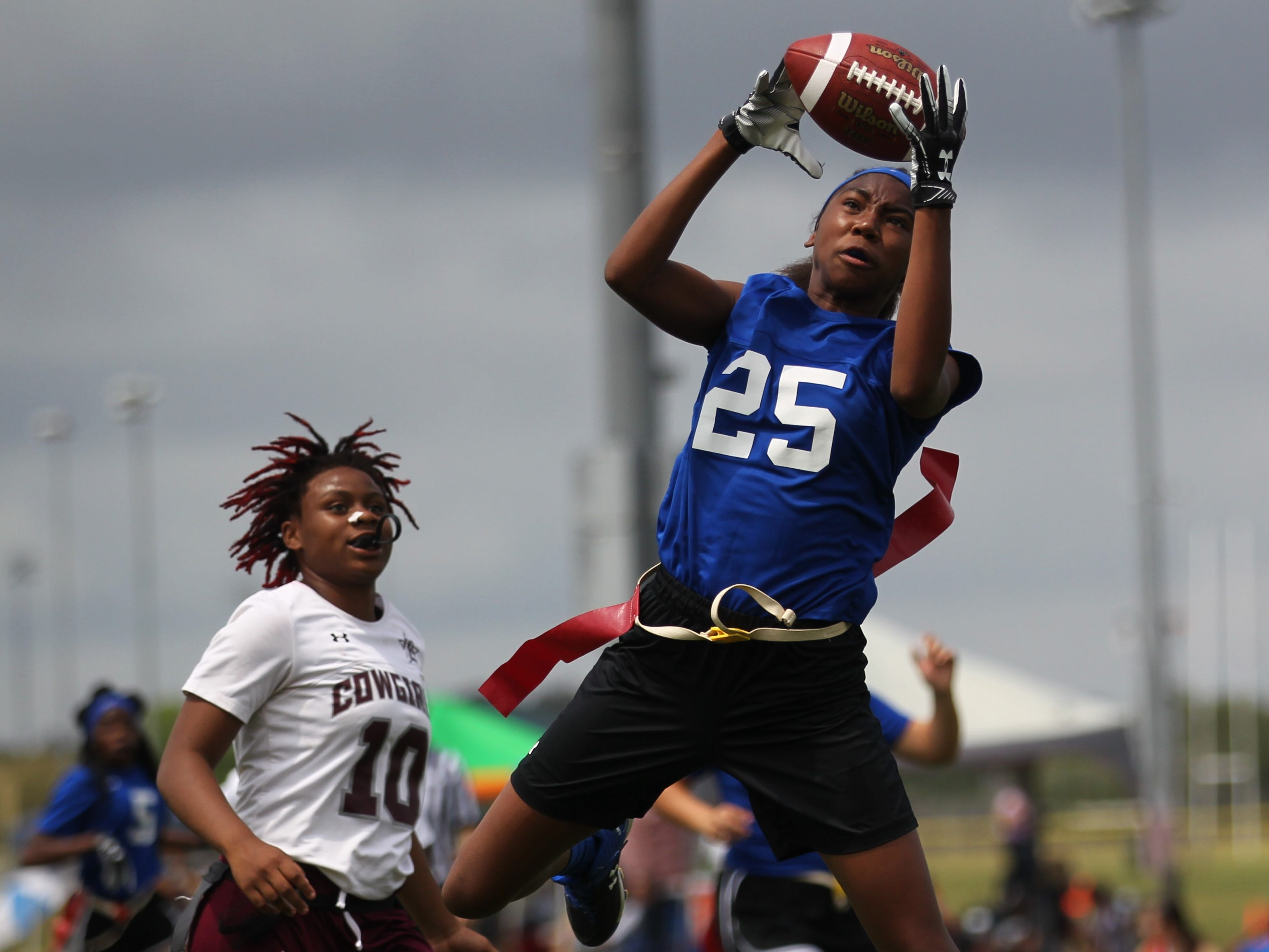Belleview plays Madison County in the 2019 Capital City Classic flag football tournament at the FSU Rec SportsPlex on April 6, 2019.