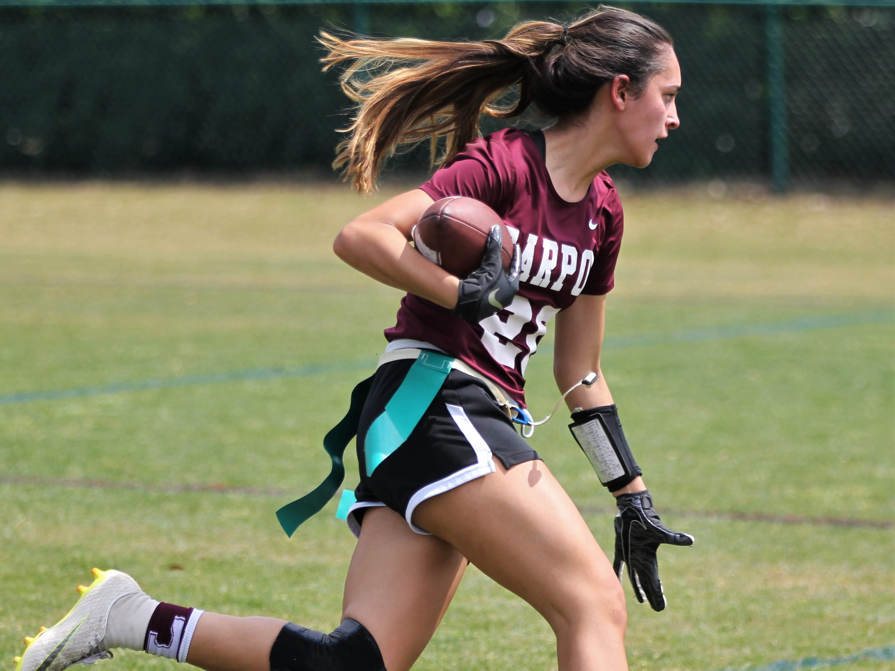Tarpon Springs plays in the 2019 Capital City Classic flag football tournament at the FSU Rec SportsPlex on April 6, 2019.