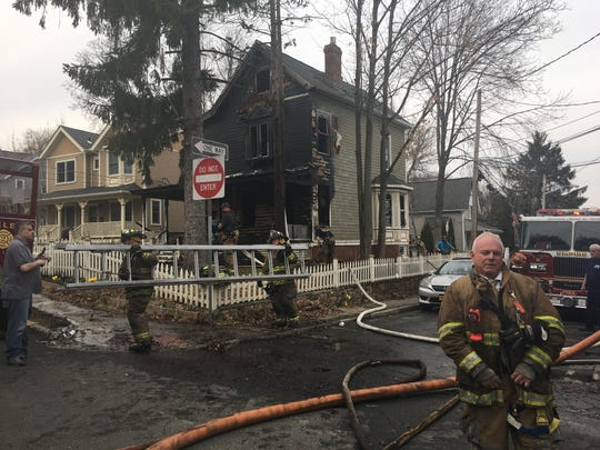 A two-and-a-half storyhome suffered major fire damage Sunday afternoon in Nyack