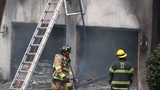 Raw Video: Delaware and Pennsylvania fire companies respond to large house fire in Centreville