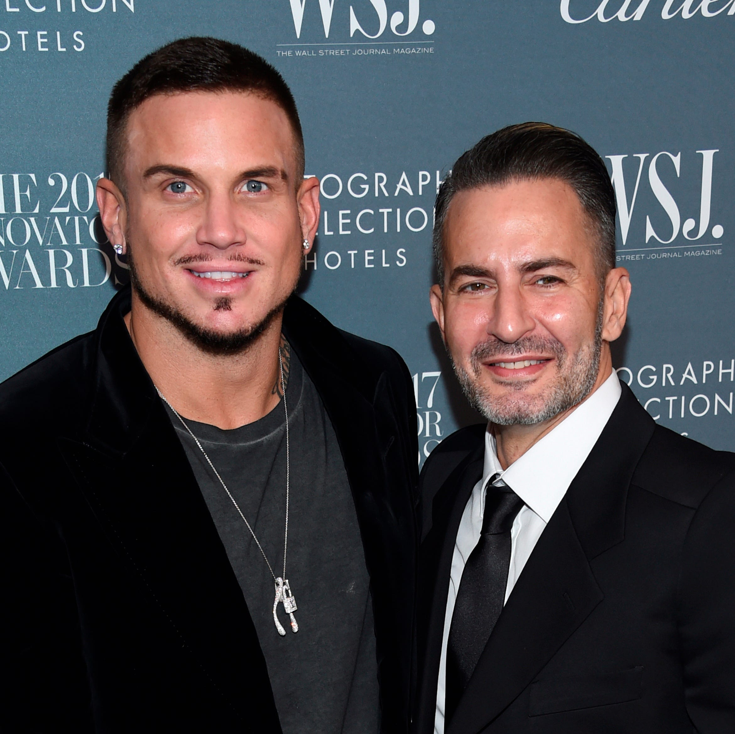 Marc Jacobs, right, and Char Defrancesco attend the WSJ. Magazine Innovator Awards at the Museum of Modern Art in New York.
