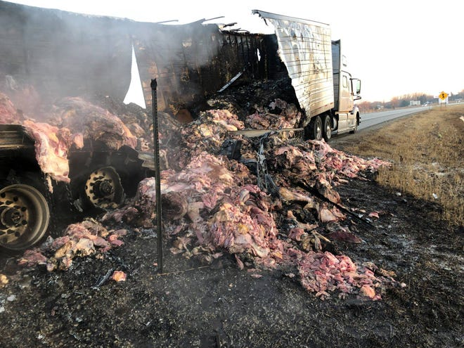 Earlier this year a truck hauling more than 40,000 pounds of meat caught fire on Interstate 41 in Grand Chute.