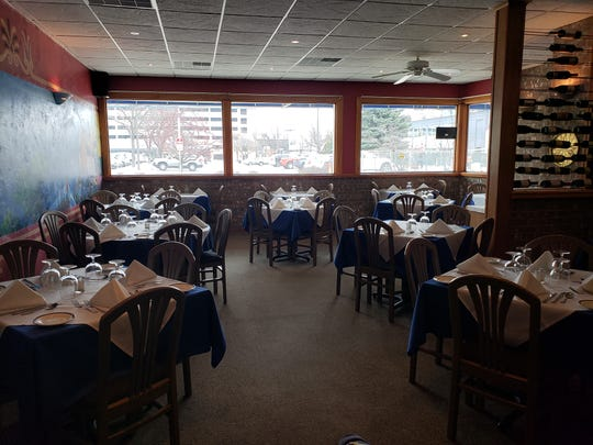Apollon's interior smoke damage was cleaned up, and the restaurant is ready to resume its dinner service.
