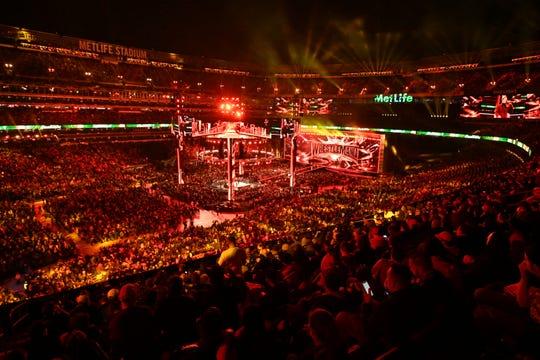 Wrestlemania 35 at Metlife Stadium on April 7, 2019.
