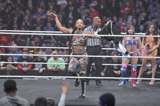 Bianca Belair at NXT: TakeOver at the Barclays Center on April 5, 2019.