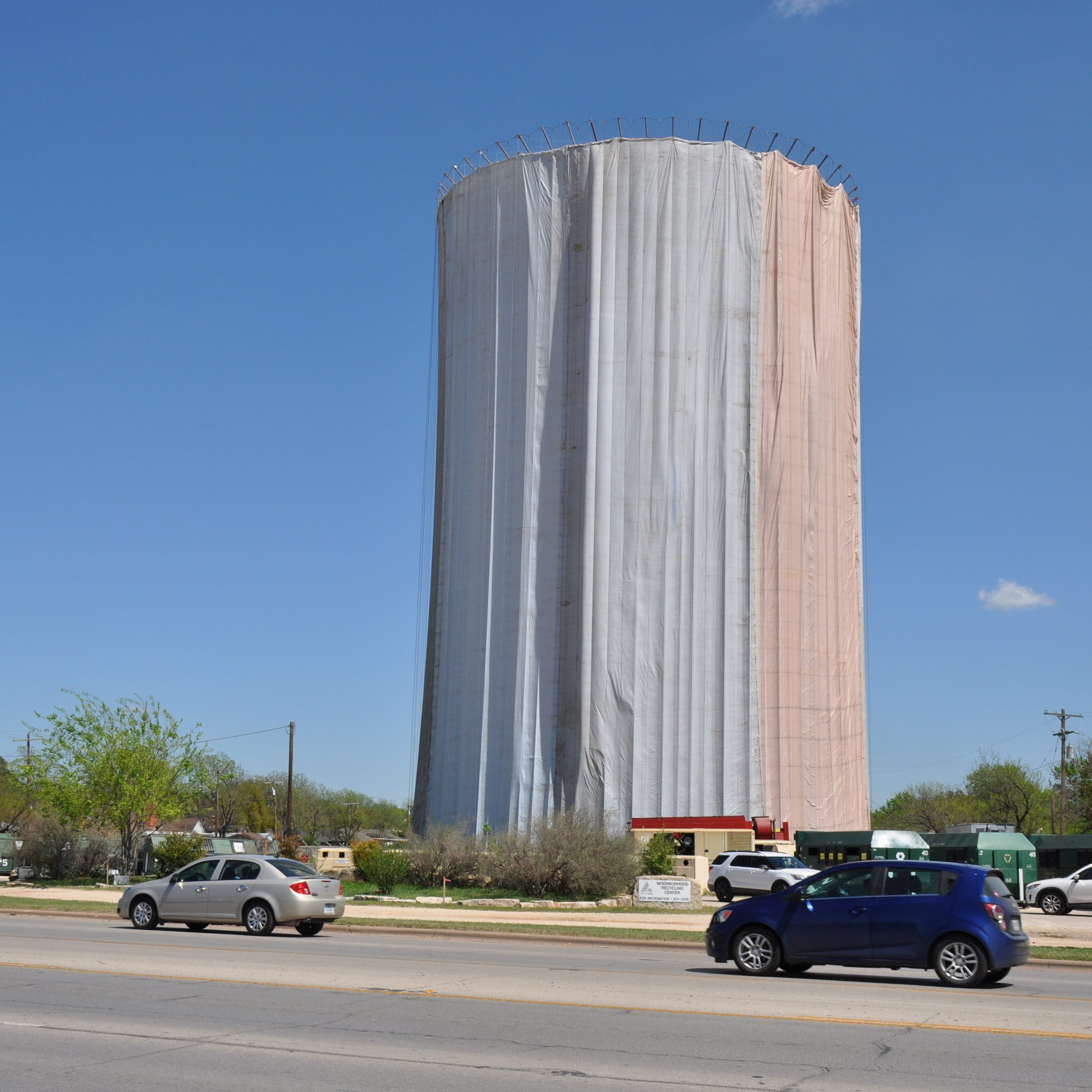 City of Abilene rehabilitating Buffalo Gap Road water tower at Rebecca Lane