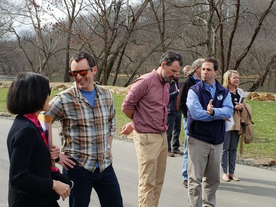 Members of educational institutions, the city and county, business and environmental organizations met with Risa Shimoda, far left, in February in Woodfin to bid on hosting the International Whitewater Hall of Fame and World River Center. The bid instead went to Richmond, Virginia.