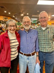 Former Nantahala Outdoor Center presidents Bunny Johns, Payson Kennedy and John Burton at the inauguration ceremony for the new Southern Appalachians Paddlesports Museum at Black Dome in Asheville.