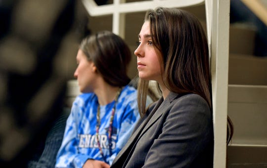 Mallory Fowler of Greene listens during a School of Management informational session held at Binghamton University's Admitted Student Open House on April 6. Fowler will be attending BU next fall.