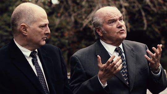 "Joel Underwood (left) and John Kenyon Ellis play arms negotiators in ""A Walk in the Woods."""