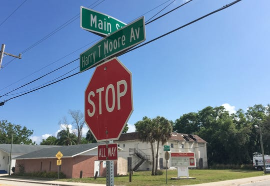 The shooting erupted in a crowd about 8 p.m. Sunday along Main Street and Harry T. Moore Avenue in the rural community just north of Titusville.