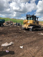 An Anytime Waste Systems worker was struck and killed at the Brevard County landfill by a bulldozer on Monday. MELBOURNE FIRE DEPARTMENT.