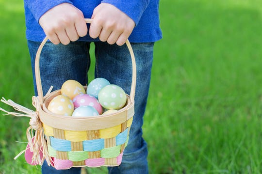 Kids will have to search for Easter eggs in their own yards and homes this year instead of parks and and kid-friendly venues.