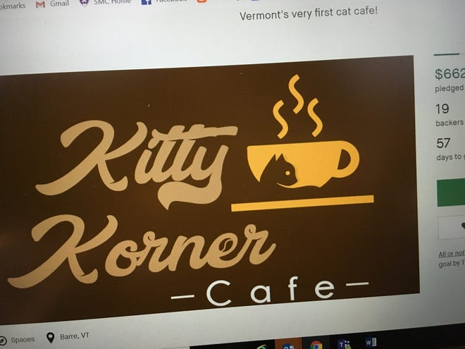 A Kickstarter campaign has begun for Vermont's first cat cafe, which is calling itself Kitty Korner Cafe.