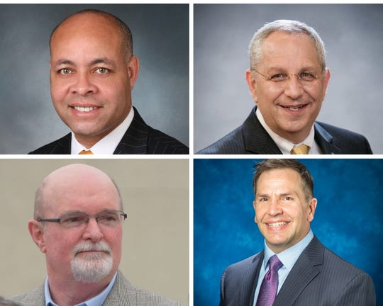 Clockwise from upper left, these are the candidates for Corpus Christi city manager -- Harry Black, Lee  Feldman, Keith Selman and Peter Zanoni.