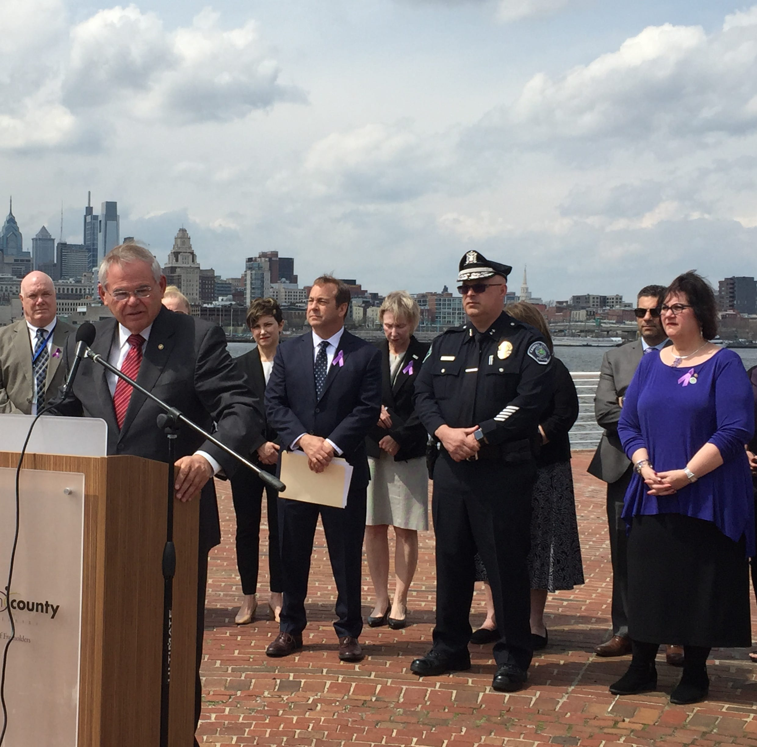 Menendez, in Camden, touts bill aimed at stemming Chinese fentanyl through sanctions