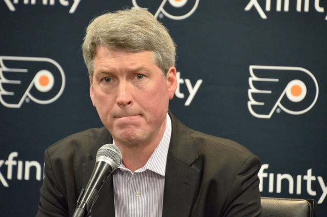 General manager Chuck Fletcher enters his first offseason with the Flyers with $35 million in salary cap space, but has several restricted free agents to retain as well.