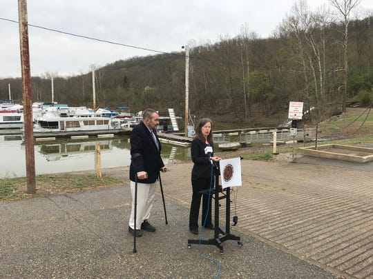 Commissioners Todd Portune and Denise Driehaus announce their plan to own and operate the Metropolitan Sewer District