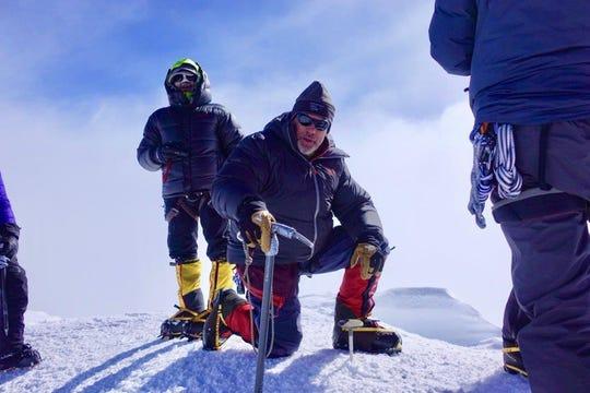 Loveland adventurer Matt Brennan on the summit of Denali.