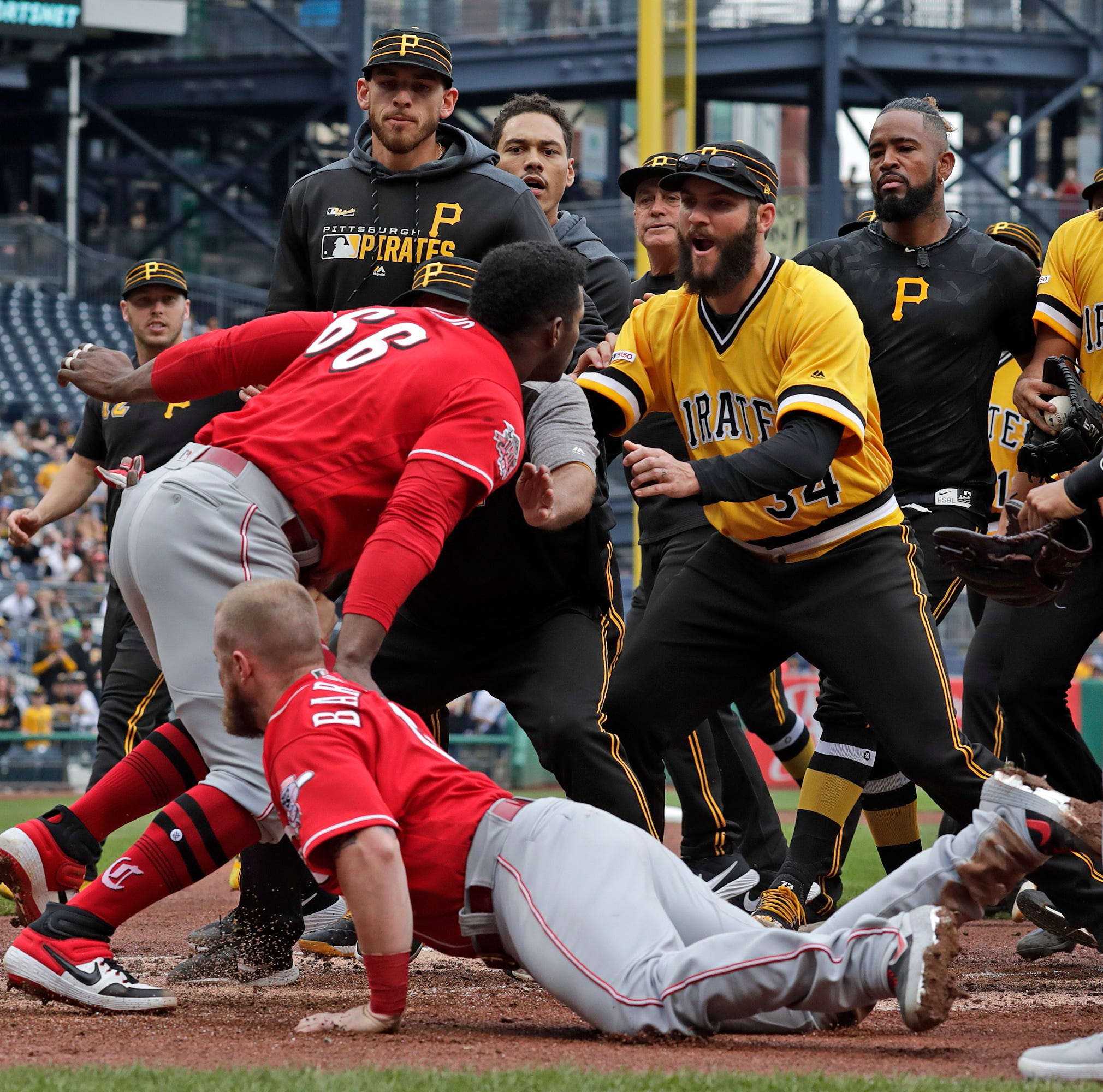 'You're not supposed to do that': Unwritten rules lead to Cincinnati Reds-Pirates scuffle