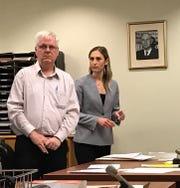 Thomas Ganley and his attorney, public defender Lindsay Gargano