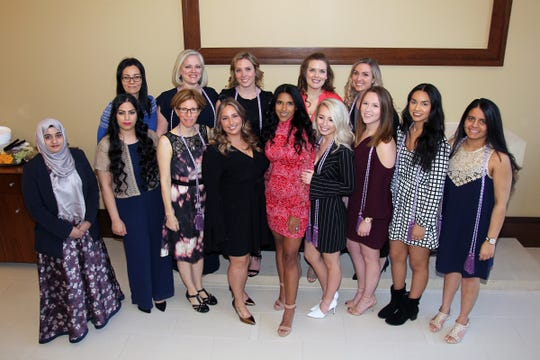 Graduates of Thomas Edison State University's Spring 2019 Accelerated 2nd Degree BSN program are (front row, from left to right): Qudsiya Hussain, Aqsa Rana, Colleen Geib, Gionna Pica, Isaurys De Jesus, Julia Criscuolo, Erica Hrudowsky, Alejandra Ramirez and Shivali Patel; and (back row, from left to right): Anna Mohlenhoff, Anthonyette Karyczak, Elizabeth Van Curen, Hannah McGrath and Megan Haskins.