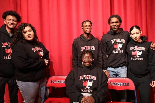 Left to right:  Noah Torres, Kenia Castellanos, Ay-yaan Muhammad, Jonathan Price, Adriana Inoa, and sitting is Jhaneyja Fowler.
